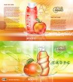 Digital vector red and orange shower gel Stock Images