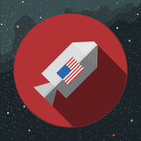 Digital vector with rocket space ship sign Royalty Free Stock Image