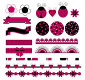 Digital vector scrapbook with ladybug Royalty Free Stock Photography
