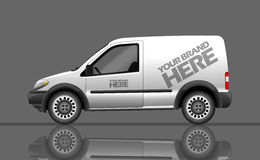 Digital vector silver and white realistic vehicle Stock Images