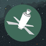 Digital vector with space satellite icon Royalty Free Stock Images