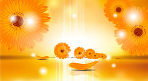 Digital Vector Sunflowers Background Stock Photo