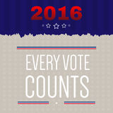 Digital vector usa election with every vote counts Stock Images