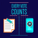 Digital vector usa election with every vote counts Stock Photo