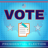 Digital vector usa election with every vote counts Royalty Free Stock Photos