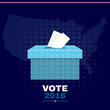 Digital vector usa election with vote box Royalty Free Stock Image