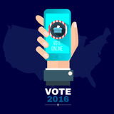 Digital vector usa election with vote 2016 online Stock Photos