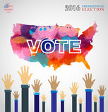 Digital vector usa presidential election 2016 Stock Images