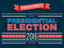 Digital vector usa presidential election 2016. With freedom and liberty, flat style Stock Photos