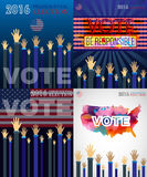 Digital vector usa presidential election. With vote be responsible, flat style Stock Photos