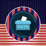 Digital vector usa presidential election 2016. Vote box, flat style vector illustration