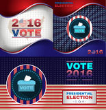 Digital vector usa presidential election. With vote box, flat style Royalty Free Stock Photos