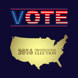 Digital vector usa presidential election 2016 Royalty Free Stock Image