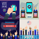 Digital vector usa presidential election. With vote online, flat style Royalty Free Stock Image