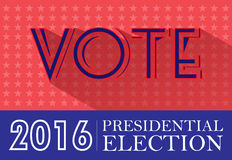 Digital vector usa presidential election 2016. With vote and stars, flat style Stock Image