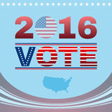 Digital vector vote usa election 2016. Flat style Stock Photography