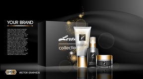 Digital vector white matte surface skin. Digital vector white matte skin care cream and lotion cosmetic container set mockup collection, your brand package Royalty Free Stock Photo