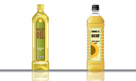 Digital vector yellow olive and sunflower oil Stock Photography