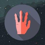 Digital-Vektor mit der roten ausländischen Hand Stockfotografie