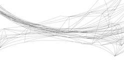 Digital vektorabstraktion Arkivfoton