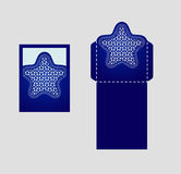 Digital vektormapp för laser-klipp royaltyfri illustrationer