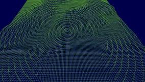 Digital-Vektoroberfläche Gelärmte Kräuselung im Cyberraum Technische Abbildung lizenzfreie abbildung