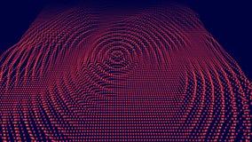 Digital-Vektoroberfläche Gelärmte Kräuselung im Cyberraum Technische Abbildung vektor abbildung