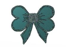 Digital velvet bow with glitters. A green bow digitally made with lots of digital glitters Stock Image
