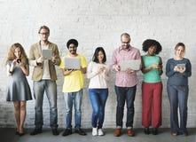 Digital-Verbindungs-Technologie-Vernetzung Team Concept Lizenzfreies Stockbild