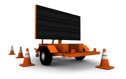 Digital-Verkehrszeichen stock abbildung