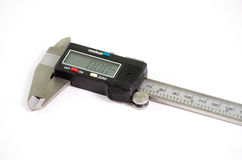 Digital  vernier caliper. Royalty Free Stock Images