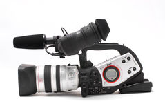 Digital video camcorder. Isolated on white Royalty Free Stock Photo