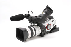 Digital video camcorder. Isolated on white Royalty Free Stock Images