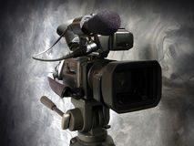 Digital Video Camera. Close up of Digital Video camera.  Mini-DV Royalty Free Stock Image