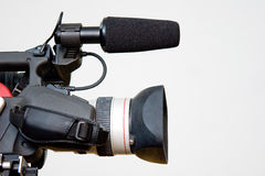 Digital video camera. Professional televisional digital video camera royalty free stock images