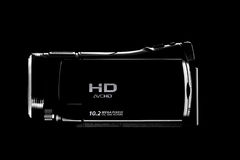 Digital Video Camera. ,isolated on a black background Stock Image