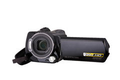 Digital Video Camera. ,isolated on a white background Royalty Free Stock Photo