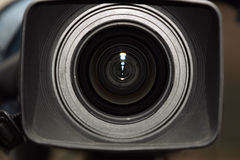 Digital video camera( close front view) Royalty Free Stock Image