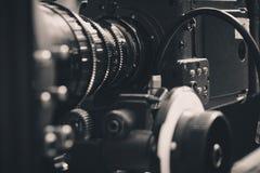Digital video camera. Close up of Professional digital video camera Royalty Free Stock Photography