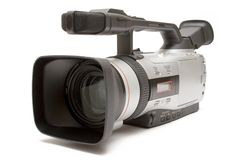 Digital Video Camera (Front-Side View) Stock Photos