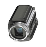 Digital video camera isolated. On white background stock photo