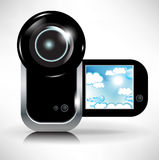 Digital video camera recording sky and clouds Stock Photography