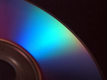 Digital video disc. Spectrum of compact disc - DVD Royalty Free Stock Images