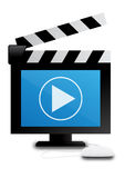 digital video för clapper Fotografering för Bildbyråer