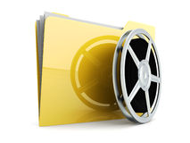 Digital Video Folder Royalty Free Stock Photo