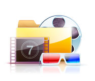 Digital video folder Royalty Free Stock Photography