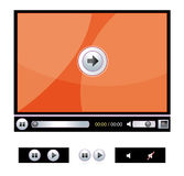 Digital video player. Digital video/media player isolated over white Royalty Free Stock Photo