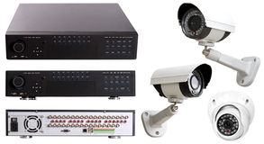 Digital Video Recorder end security camera royalty free stock photo