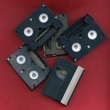 Digital Video Tape. S in Disarray stock photography