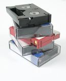 Digital video tapes. Video tapes mini dv Royalty Free Stock Images